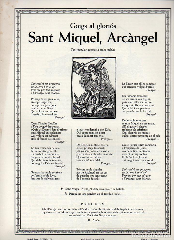 GOIGS AL GLORIÓS SANT MIQUEL ARCÀNGEL (TORRELL DE REUS Nº 1031, 1978) (Coleccionismo - Laminas, Programas y Otros Documentos)