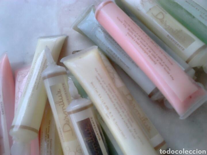 Coleccionismo: Lote 22,tubos de champú suavizante dermiluz,de los años 60-70,sin abrir - Foto 3 - 87583587