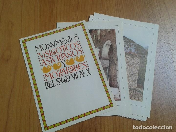MONUMENTOS VISIGÓTICOS ASTURIANOS Y MOZÁRABES DEL S. VII AL X -- 14 LÁMINAS -- ASTURIAS, ASTURIES -- (Coleccionismo - Laminas, Programas y Otros Documentos)