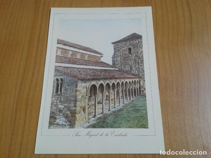 Coleccionismo: MONUMENTOS VISIGÓTICOS ASTURIANOS Y MOZÁRABES del s. VII al X -- 14 Láminas -- Asturias, Asturies -- - Foto 9 - 88817056