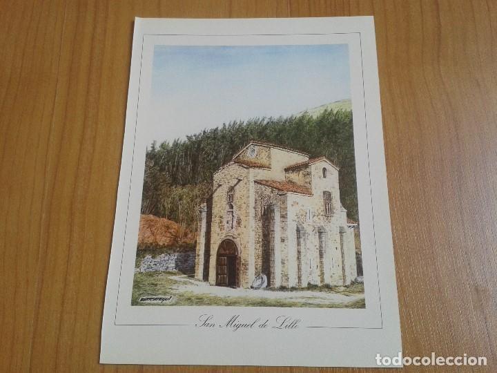 Coleccionismo: MONUMENTOS VISIGÓTICOS ASTURIANOS Y MOZÁRABES del s. VII al X -- 14 Láminas -- Asturias, Asturies -- - Foto 11 - 88817056