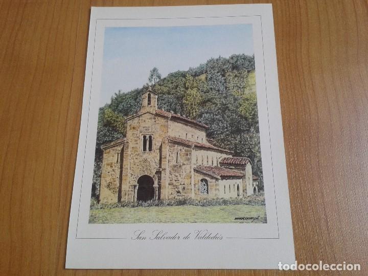 Coleccionismo: MONUMENTOS VISIGÓTICOS ASTURIANOS Y MOZÁRABES del s. VII al X -- 14 Láminas -- Asturias, Asturies -- - Foto 12 - 88817056