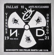 Coleccionismo: FLYER INVITACIÓN ORIGINAL DISCOTECA N.O.D. RUTA BAKALAO RUTA DESTROY. Lote 89460768
