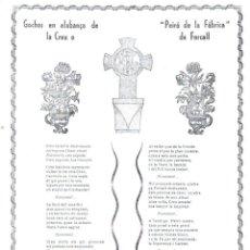 Coleccionismo: GOIGS EN ALABANÇA DE LA CREU PEIRÓ DE LA FÀBRICA DE FORCALL (1974). Lote 91471685