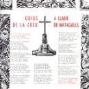 Coleccionismo: GOIGS A LLAOR DE LA CREU DE MATAGALLS (1965). Lote 91521575