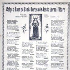 Coleccionismo: GOIGS A LLAOR DE SANTA TERESA DE JESÚS JORNET I IBARS (1975). Lote 91522185