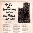 Coleccionismo: GOIGS DE SANTA COLOMA PATRONA DE CENTELLES (1968) . Lote 91597690