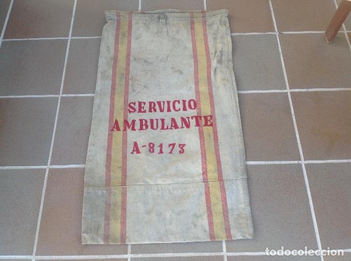 Coleccionismo: SACA O SACO DE CORREOS DE ESPAÑA AÑO 1946 SERVICIO AMBULANTE - Foto 5 - 196949555