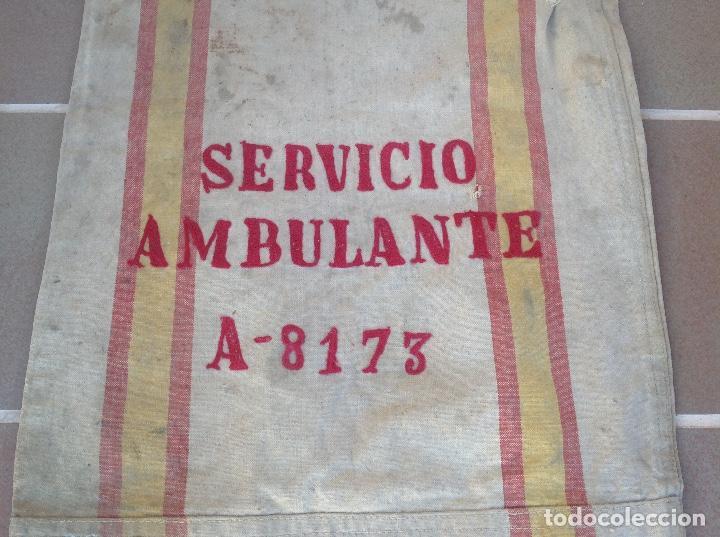 Coleccionismo: SACA O SACO DE CORREOS DE ESPAÑA AÑO 1946 SERVICIO AMBULANTE - Foto 6 - 196949555
