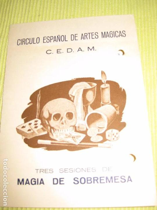 PROGRAMA CIRCULO EPAÑOL ARTES MAGICAS . CEDAM . MAGIA DE SOBREMESA DIPTICO 1960 MICROMAGIA (Coleccionismo - Laminas, Programas y Otros Documentos)