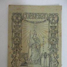 Coleccionismo: CUADERNO - LIBRETA - MINERVA - MODERNISTA - TABLAS SUMAR, RESTAR - LAS FÁBULAS DE ESOPO - AÑO 1910. Lote 92907105