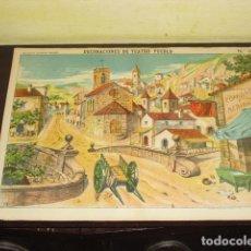 Coleccionismo: LAMINA - DECORACIONES DE TEATRO DE PUEBLO - ESTAMPERIA PALUZIE N 1038. Lote 93037010