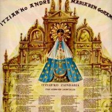 Coleccionismo: GOIGS - GOZOS ITZIAR' KO ANDRE MARIA' REN GORAMENAK (1959) EUSKERA. Lote 93147425