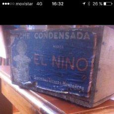 Coleccionismo: CAJA DE MADERA LECHE CONDENSADA EL NIÑO. Lote 93584440