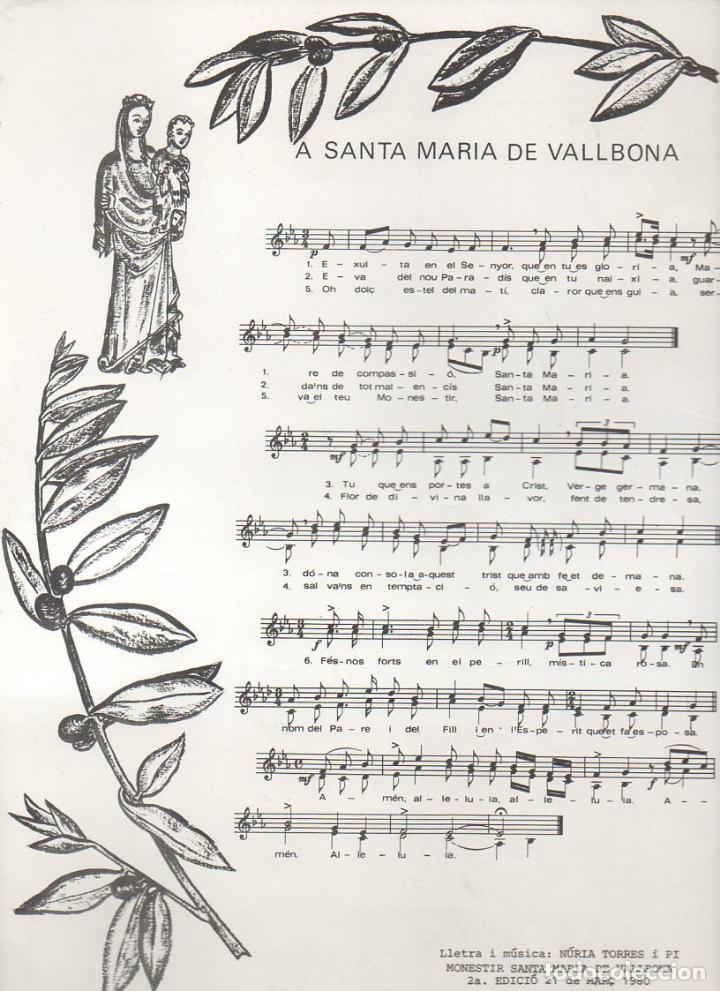 GOIGS A SANTA MARIA DE VALLBONA (1980) (Coleccionismo - Laminas, Programas y Otros Documentos)