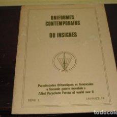 Coleccionismo: UNIFORMES CONTEMPORAINS OU INSIGNES - PARACHUTISTES BRITANNIQUES ET AMERICAINS 2ª GM -. Lote 93857470