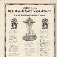 Coleccionismo: GOIGS A LA SANTA CREU DE NOSTRE SENYOR JESUCRIST QUE ES CANTEN A TARRÈS (1977). Lote 93912695