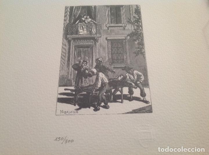 RARA LITOGRAFIA DE MORACHO (Coleccionismo - Laminas, Programas y Otros Documentos)