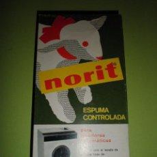 Coleccionismo: NORIT ANTIGUA CAJA DE DETERGENTE NORIT AÑOS 60 NUEVA SIN USAR. Lote 94118310