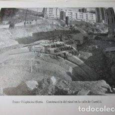 Coleccionismo: METRO BARCELONA TRANSVERSAL - TRAMO VILAPISCINA HORTA CALLE CARTELLA CONSTRUCCION TUNEL LEER INT. Lote 94172630