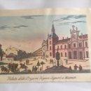 Coleccionismo: LAMINA DE MADRID EN ITALIANO : VISTA DE LAS PRISIONES DE GRANDES SEÑORES EN MADRID 31,5 X22 CM. Lote 94308898