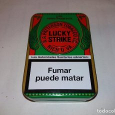 Coleccionismo: LUCKY STRIKE S.XIX LIMITED EDITION PACK CAJA DE TABACO METÁLICA CON RELIEVES, COLOR VERDE.. Lote 94411914