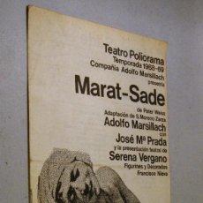 Coleccionismo: PROGRAMA FOLLETO MARAT-SADE. TEATRO POLIORAMA 1968-69. Lote 94590899