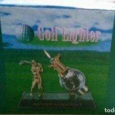 Coleccionismo: GONGYIPIN REFINED HANDICRAFT VTG GOLF BALL DESK TOP BUTANE LIGHTER TOBACC0. Lote 94764787
