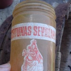 Coleccionismo - Antigua botella frasco envase plastico aceitunas la sevillana - 94950707