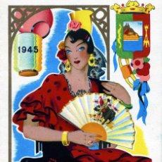 Coleccionismo: PROGRAMA FERIA DE MALAGA AÑO 1945-VER FOTO ADICIONAL DE LA CONTRAPORTADA .. Lote 95297131