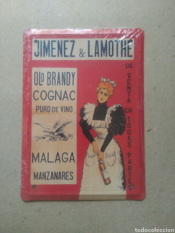 PLACA METÁLICA JIMÉNEZ & LAMOTHE (Coleccionismo - Varios)