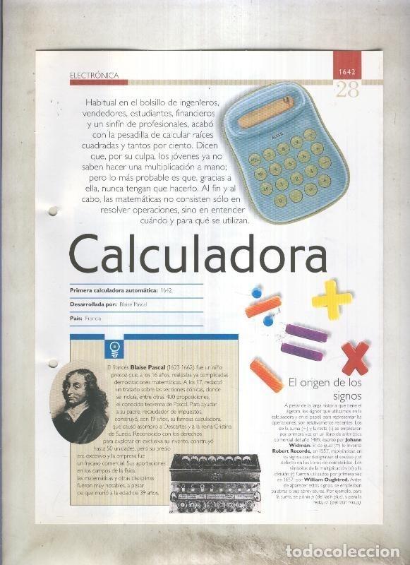 CALCULADORA: SON 4 PAGINAS Y (Coleccionismo - Laminas, Programas y Otros Documentos)