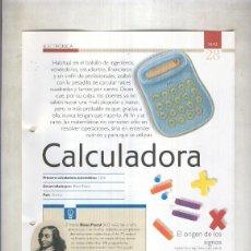 Coleccionismo: CALCULADORA: SON 4 PAGINAS Y . Lote 95715996