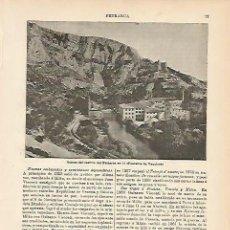 Coleccionismo: LAMINA DE ESPASA 204: CASTILLO DE PETRARCA. Lote 95716952