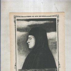 Coleccionismo: LAMINA 006; RETRATO DE PETRARCA DE LA ESCUELA DE BELLINI. Lote 95717055