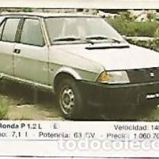 Coleccionismo: CROMO 277 ALBUM COCHES MOTOR 16: SEAT - RONDA. Lote 95717096