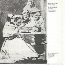 Coleccionismo: LAMINA 1738: GOYA. EL CALDO. Lote 95717111
