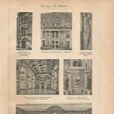 Coleccionismo: LAMINA ESPASA 18767:ESTILO ENRIQUE II. Lote 95720850
