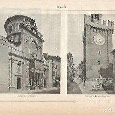 Coleccionismo: LAMINA ESPASA 11655: VISTAS DE BRESCIA ITALIA. Lote 95759354