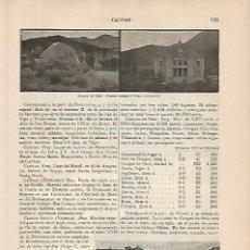 Coleccionismo: LAMINA ESPASA 4212: VISTAS DE CANGAS DE ONIS OVIEDO. Lote 95761663