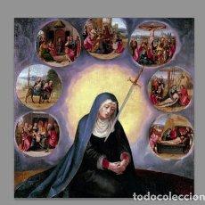 Coleccionismo: AZULEJO 20X20 DE LOS DOLORES DE LA VIRGEN MARÍA. Lote 95763215