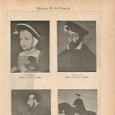 Coleccionismo: LAMINA ESPASA 18776: ENRIQUE II DE FRANCIA. Lote 95783944
