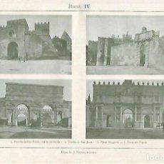 Coleccionismo: LAMINA ESPASA 19186: PUERTAS DE ROMA. Lote 95915743