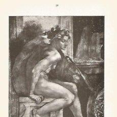 Coleccionismo: LAMINA 951: MIGUEL ANGEL. FIGURA DECORATIVA. Lote 95915855