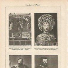 Coleccionismo: LAMINA ESPASA 19470: IMAGENES DE SANTIAGO EL MAYOR. Lote 95915895