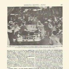 Coleccionismo: LAMINA ESPASA 21698: LOS PRESIDENTES NASSER Y KUATLY EN EL CAIRO EN 1958. Lote 95916308