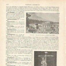 Coleccionismo: LAMINA ESPASA 22846: VISTA DE TACORONTE TENERIFE. Lote 95916538