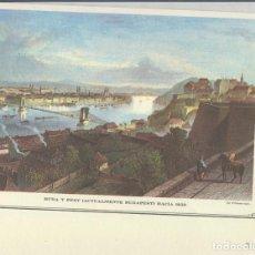 Coleccionismo: LAMINA 72: BUDA Y PEST (BUDAPEST) HACIA 1850. Lote 95917620