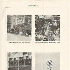Coleccionismo: LAMINA ESPASA 13761: INSTALACION DE CABLE DE TELEFONO. Lote 95974996