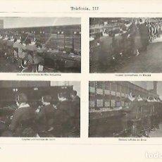 Coleccionismo: LAMINA ESPASA 13759: CENTRAL DE TELEFONICA EN SAN SEBASTIAN MADRID LEON Y REUS. Lote 95975010